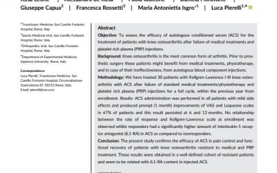 Pain control and functional improvement in patients treated – R. Leone – A. de Rosa – P. Iudicone – D. Fioravanti